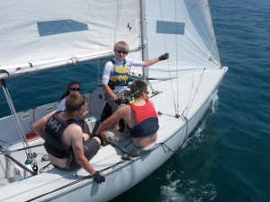 Sailing a Sussex Yacht Club Sonar